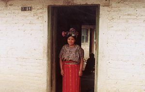 Nebaj woman in doorway