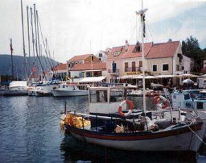 boat in Kefalonia harbor