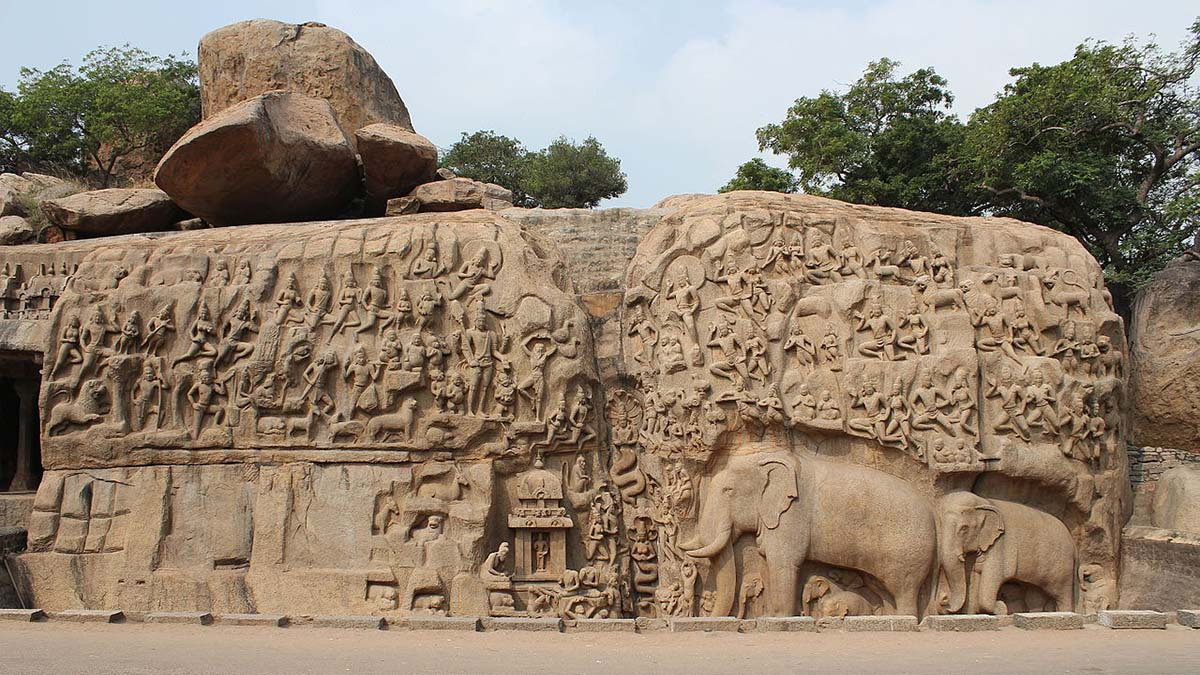 Arjuna's Penance rock carving, Mahablipuram
