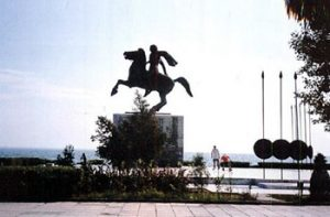 equestrian statue of Alexander the Great at Thessaloniki