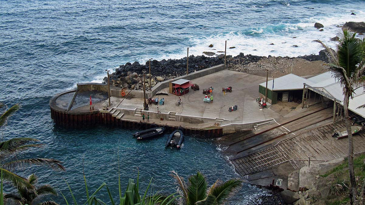 dock at Pitcairn Island