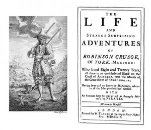 Title page of Robinson Crusoe first edition