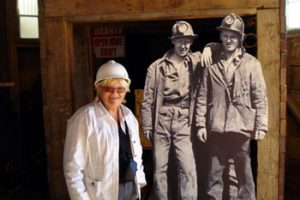 The author, Ruth Kozak, at Welsh coal mine