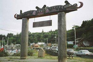 gateway to 'Namgis First Nation, Alert Bay, BC