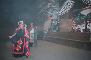 dancers in Alert Bay Big House