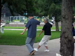 couple doing T'ai Chi