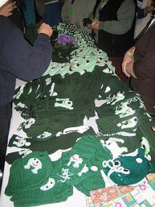 "vendors selling ""frog"" merchandise"