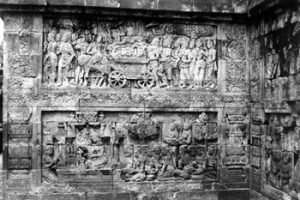 intricate carvings at Borobudur