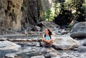 the author in the Samaria Gorge