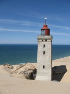 partly buried Rubjerg Knude Fyr lighthouse