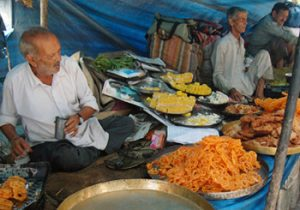 food stall in Old Delhi