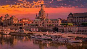 Dresden twilight cityscape