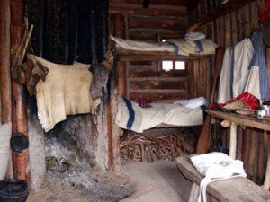 fur post sleeping quarters