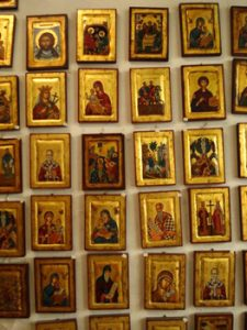 array of icons for sale in shop