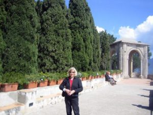 the author in Italy