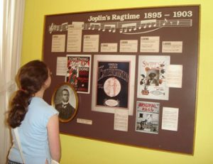Joplin museum display of sheet music