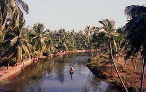 boat on Chetval river, Kondungallur