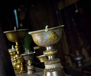monastery butter lamps