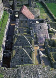 Inca buildings at Machu Picchu