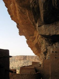 close up of Bandiagara cave construction