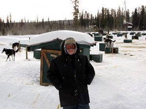 the author in snow wearing cold-weather clothing