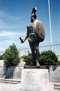 statue of Leonidas in Sparta, Greece