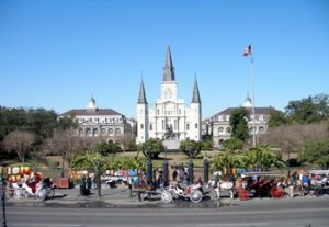 New Orleans skyline with St. Louis Cathedral