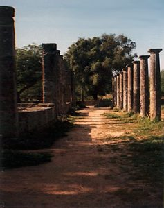 ancient columns remain in Olympia