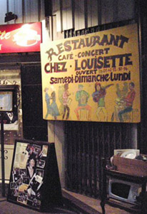 Chez Louisette restaurant, Paris