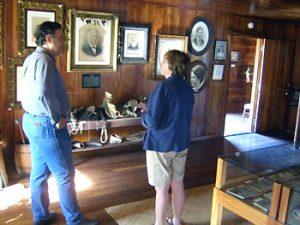 in Parker House restored bedroom