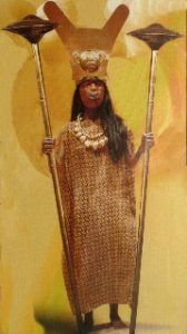representation of mummy of tattooed Moche queen