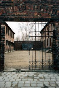 gate at Auschwitz