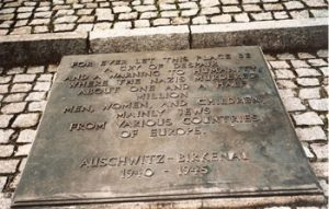 Memorial tablet Auschitwitz-Birkinau Museum, Poland