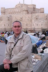 the author at Qaitbay Citadel, Alexandria, Eqypt