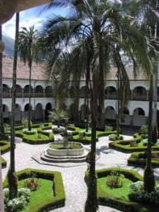 courtyard of Iglesia de San Francisco