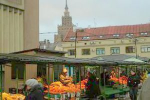 shopping at a Riga market