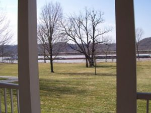 view of the Ohio River from Riverside house