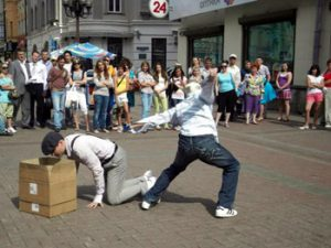 street performers, Moscow