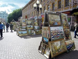 art for sale on Moscow street