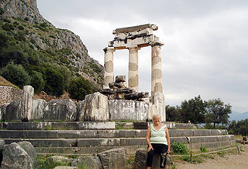 the author on pilgrimage at Delphi