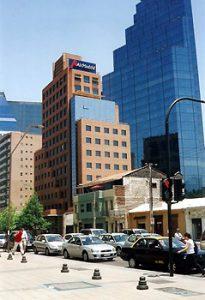 Santiago financial district