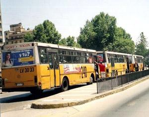 Santiago transit buses