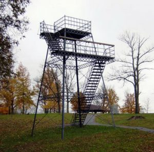 viewing tower at mound
