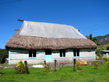 chief's house in Koronisagana village, Fiji
