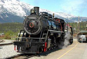 White Pass & Yukon steam locomotive
