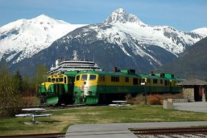 Diesel locomotives on White Pass & Yukon line