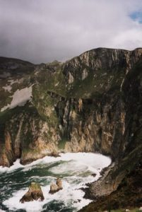 Slieve League cliffs above ocean