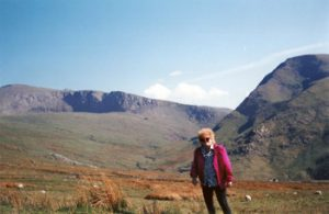 the author, Ruth Kozak, in Snowdonia, Wales