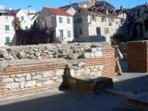 remains of ancient Roman walls, Split