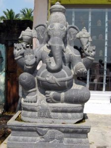 stone carving of Ganesha